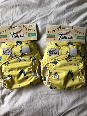 Tickle Tots By Little Fox Reusable Nappy With Liners Birth To Potty 9-35lbs NWT