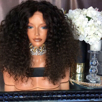 Women Afro Long Full Kinky Curly Hair Wavy Wigs Sexy Wig Party Wig Natural UK