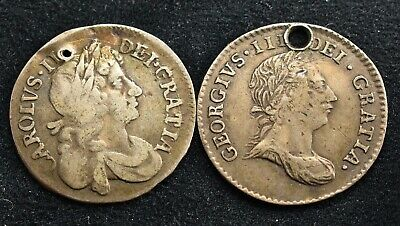 1784 & 1679 Old Silver 4 Pence Coins