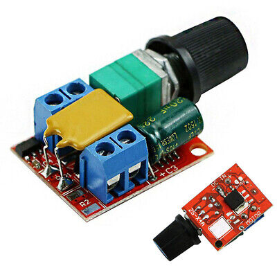 Mini DC 5A Motor PWM Speed Controller 3~35V Speed Control Switch LED Dimmer Nice