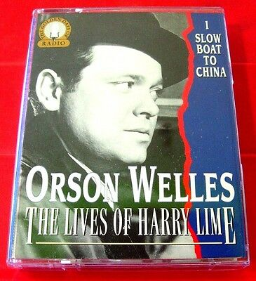 Orson Welles The Lives Of Harry Lime 1 2-Tape Audio Slow Boat To China/Voodoo+6