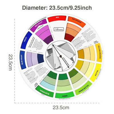Color Mixing Guide Color Blending Wheel Palette Fit the Artist Paint Tattoo