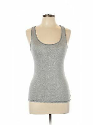 American Eagle Outfitters Women Silver Tank Top Med