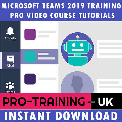 Microsoft Teams 2019 Pro Video Training Tutorial Course - Instant Download