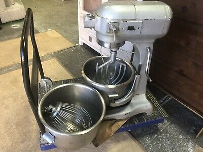 Hobart AE200 commercial mixer stainless steel with 2x bowl
