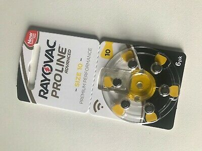 Rayovac size 10 Proline Advanced Hearing Aid Battery pack of 60, (10x6 pack)