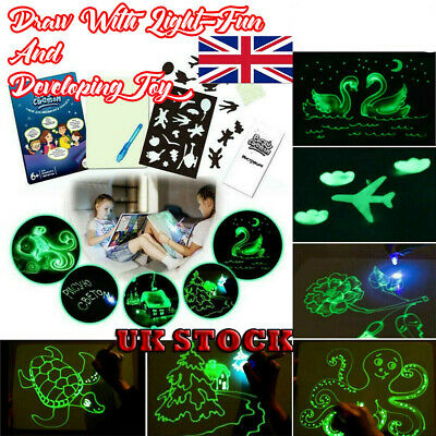 Draw With Light Fun And Developing Toy Drawing Board Magic Draw Educational LOT