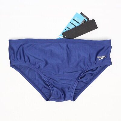 3f02f46d44 Speedo Race II Powerflex Mens Swim Brief 36 Solid Navy Blue 70800 Drawstring