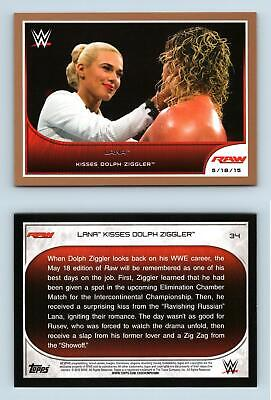 Lana #34 WWE Road To Wrestlemania 2016 Topps Bronze Parallel Card