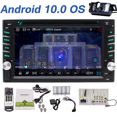 "Android 9.0 6.2"" 2Din InDash Touch Car DVD Radio Stereo Player BT WiFi GPS+CAM E"