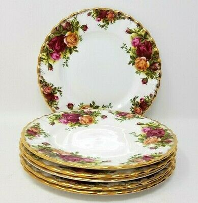 Royal Albert Old Country Roses 6 x 6.25 Inch Side Or Tea Plates.