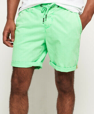 New Mens Superdry Sunscorched Shorts Hyper Lime