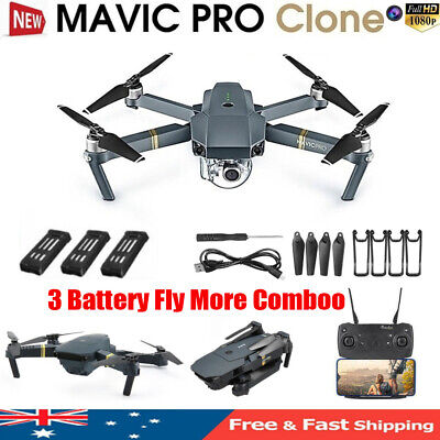DJI Mavic Pro Clone Drone With Wifi FPV 1080P HD Camera Foldable RC Quadcopter~