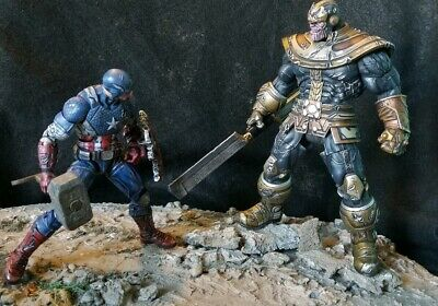 Marvel Legends Custom Captain America vs Thanos Avengers  Endgame Marvel Select