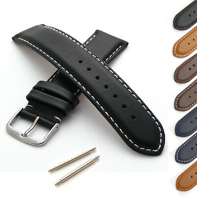 Genuine Leather Watch Strap Band (M  XL) 18mm 20mm 22mm 24mm Men's Women's