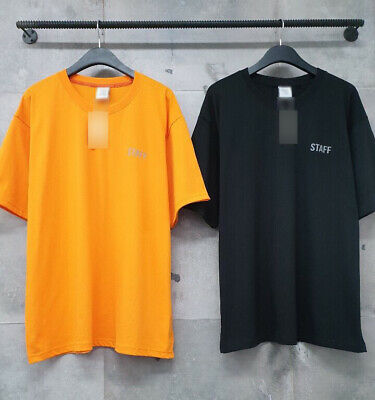 e983aa94 Mens VTM 3M Reflective STAFF Graphic Print Short Sleeve T-Shirts Black  Orange