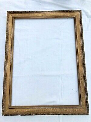late victorian large ornate gilt picture frame !