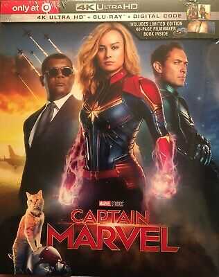 New Captain Marvel 4K Ultra Hd Blu Ray Digital 2 Disc Target Exclusive Digipack