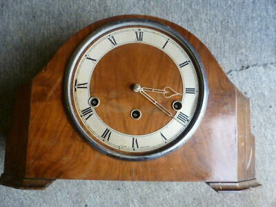 Enfield walnut Westminster chime mantel clock