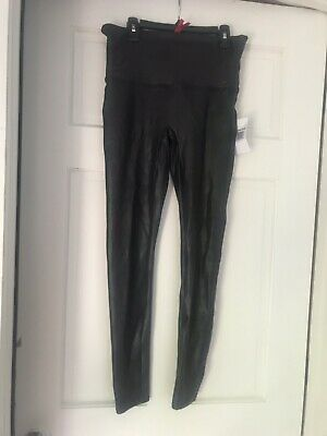 7abcd13fc7ac27 SPANX WOMENS READY to Wow! Faux Leather Leggings Wine Size XL - $98 ...