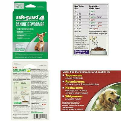 Safe-Guard Dog Dewormer Large 8-in-1 Puppy Tapeworm Worms Medicine Treatment New