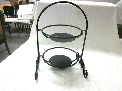 Longaberger Tiered Two Basket Wrought Iron Stand