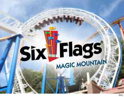 SIX FLAGS MAGIC Mountain Tickets - 2 for $74 99 (Immediate Email Delivery)