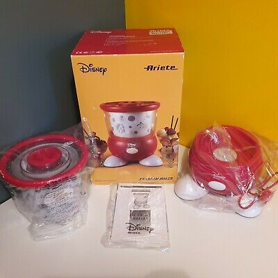 Disney Ariete Ice cream Maker Boxed With Original Instructions Booklets VGC FWO