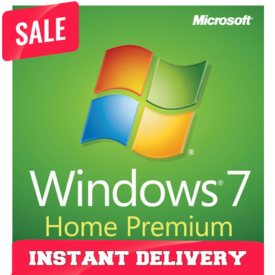 Instant delivery - Windows 7 Home Premium 64/32bit Lifetime Genuine key- SALEOFF