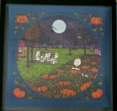 Marq Spusta Print It's The Great Pumpkin Charlie Brown Main Edition Blue SIgned