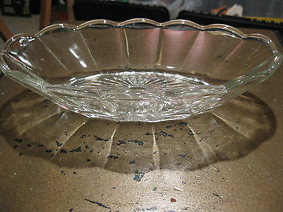 Mw.3G: Antique Glass Etched Tray Plate Dish Condemints