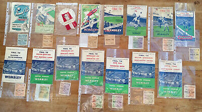 FA CUP FINAL PROGRAMMES & TICKET STUBS from 1946 to 2019 plus more! ALL ORIGINAL