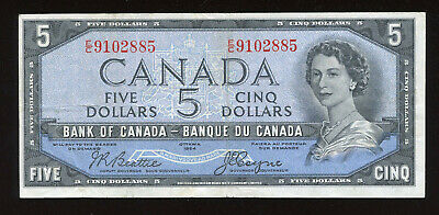 1954 Bank of Canada $5 - Devil's Face $5 - S/N: E/C9102885