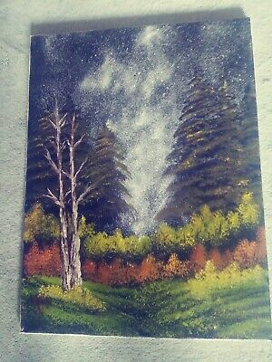 Oil Painting by Bob Pritts Done in the Bob Ross Wet on Wet Style.18x24