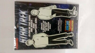Star Trek Glow In The Dark Spock and Captain Kirk Vintage Illuminations Stickers