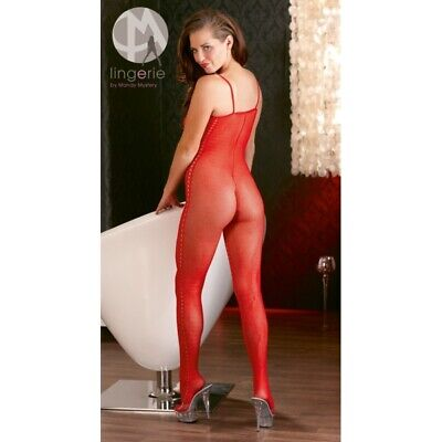 Mandy Mystery Catsuit rosso aperto bodystocking hot catsuit body sexy shop linge