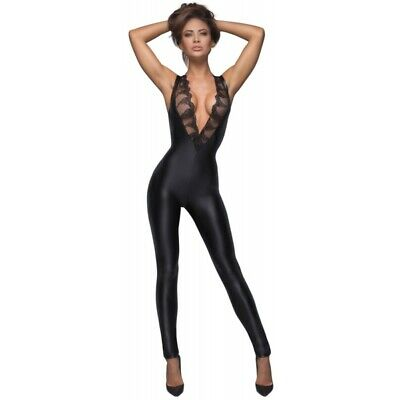 Noir catsuit nero opaco lucido bodystocking hot catsuit body sexy shop lingerie