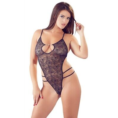 Cottelli Collection body nero bodystocking hot catsuit body sexy shop lingerie i
