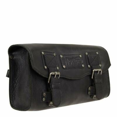 NORTON Retro Vintage Style Black Leather Tool Bag UK Seller MRRP £95.99