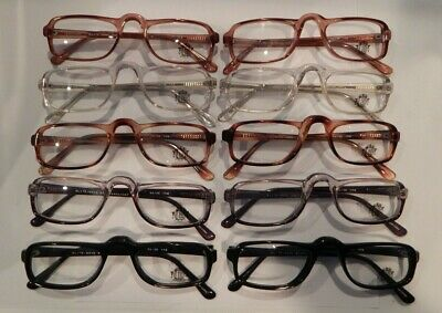 Vintage 10 Pc. Lot Elite Nova Asst. Colors 1/2 Eye 50/26 Eyeglass Frame NOS #S16