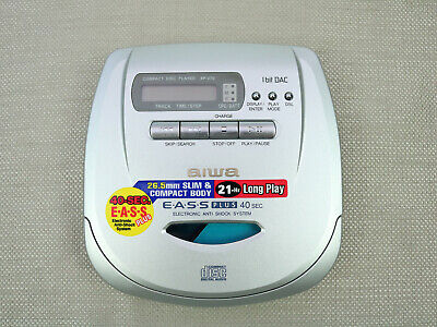 Aiwa Portable CD Player XP-V70 - Silver w/ Electronic Anti-Shock System Tested