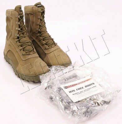 NEW Rocky S2V 104-1 Special Ops Military Boots 10.5W (WIDE) Coyote SEAL