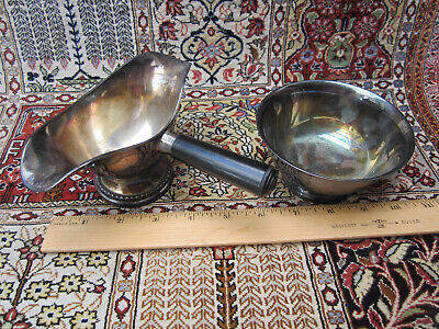 Vintage 1950-1970 Silver /  Silver Plate Serving Pieces.. Need Polish.. Lovely!