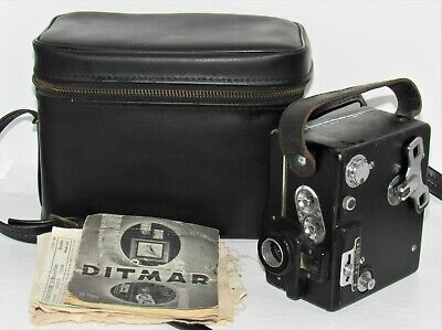 Very Nice 1930's Ditmar 8mm Clockwork Cine Camera