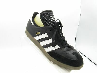 e42bc54d2 Adidas Samba Size 7 M Black Leather Sneakers Classic Indoor Soccer Mens  Shoes