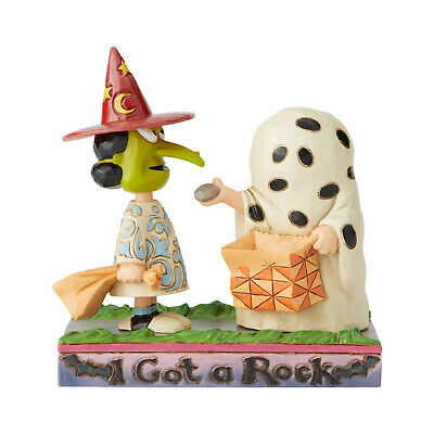 Jim Shore Peanuts Halloween Charlie Brown & Lucy I Got A Rock New 2019 6002775