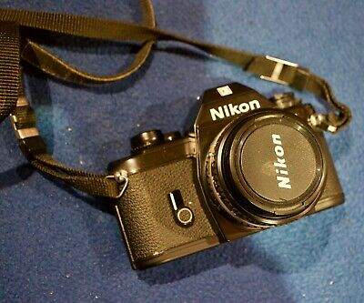 Bargain: Nikon EM 35mm SLR Film Camera + case + strap - Nikon F Lens Mount