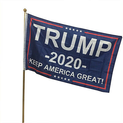 American  Double Sided Donald Trump Flag Banner Keep America Great! 2020