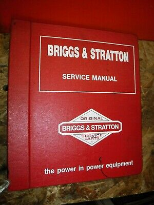 Up To 1986 Briggs & Stratton Master Factory Engine Service Manual Single Twin