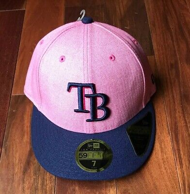 new concept 1f583 ec592 New Era Tampa Bay Rays Pink Mothers Day 59FIFTY Low Profile MLB Cap Hat  Size 7